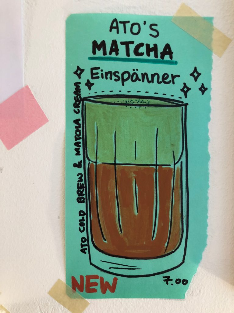 Ato Tea's new drink, the Einspänner